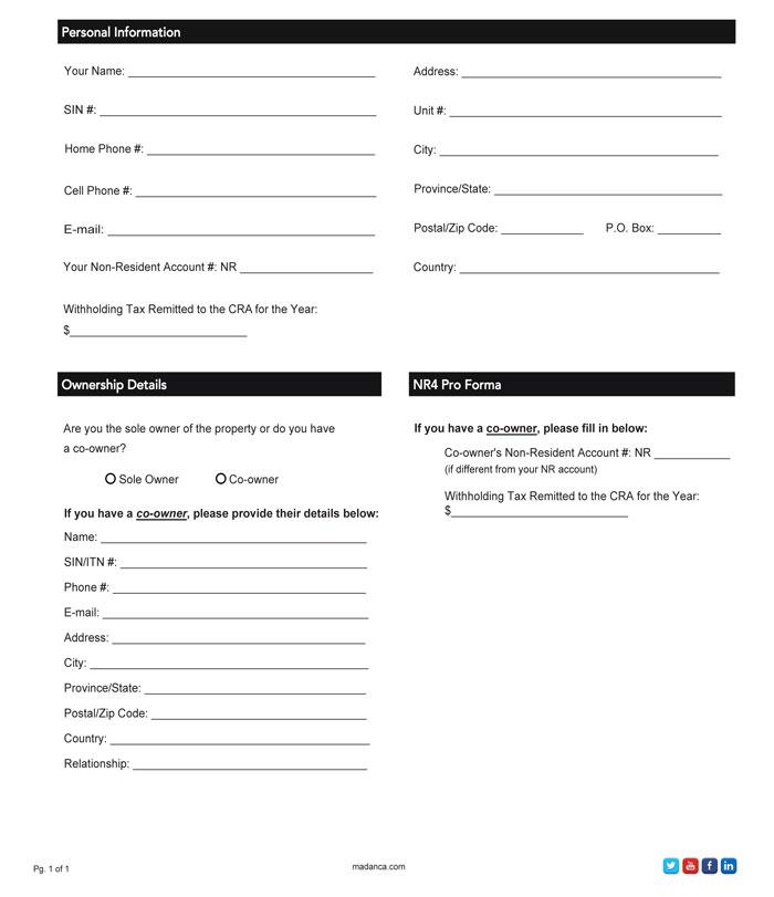 NR4 Pro Forma Letter Checklist