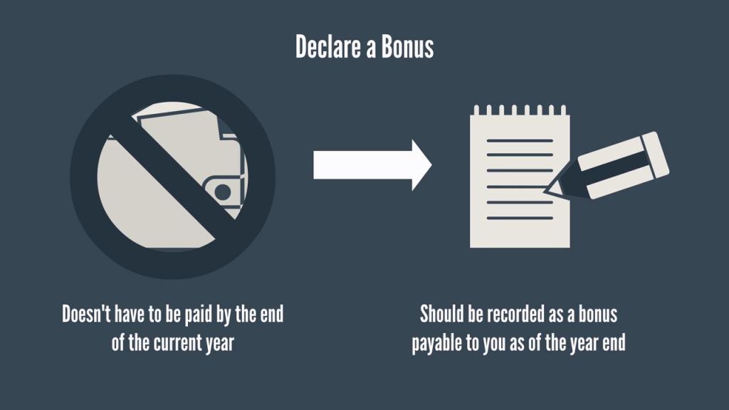 1 - Declare a Bonus
